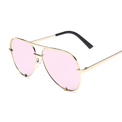 YDXC Gafas de Sol Vintage Negro piloto Gafas de Sol Mujeres Hombres Mujer gradiente aplicar al Trabajo por Ordenador o Conducir y Otras Actividades al Aire Libre-Gold_Pink