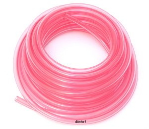 "Helix Clear Pink/Red 1/4"" Polyurethane Fuel Line - 5' Feet"