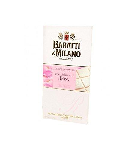 Baratti & Milano - TABLETTE CHOCOLAT BLANC A L'EXTRAIT NATUREL DE ROSE 75GR
