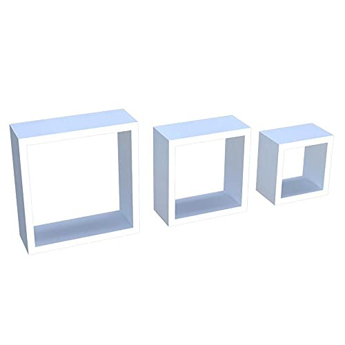 Kit 03 Nichos Organizador Mdf Decorativo Pequeno Médio e Grande Branco