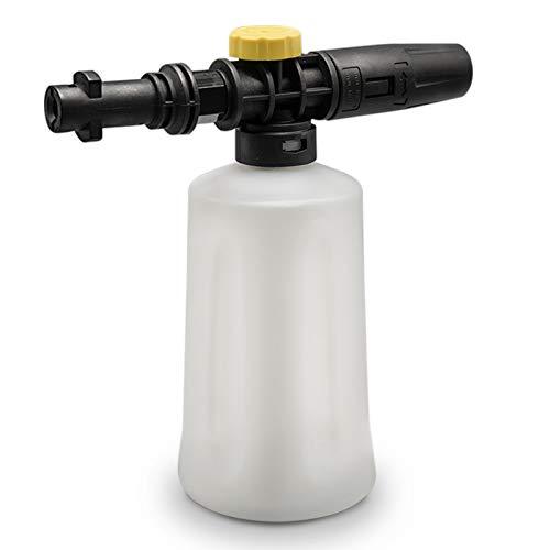 Fai Top 750ML Lanza de Espuma de Nieve Lanza de cañón Jabón Presión de Lavado de Espuma de Coche Pulverizador Ajustable Boquilla de Botella de Chorro para Karcher K2 K3 K4 K5 K6 K7