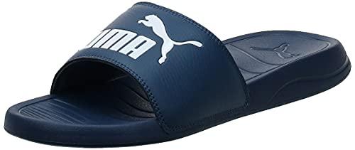 PUMA Popcat 20, Zapatos de Playa y Piscina Unisex Adulto, Blau Dark Denim White, 43 EU