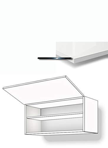 Premium-Ambiente BARRH66 Hängeschrank 1-klapptürig Fachboden 36cm hoch inkl. Montageschiene Hochglanz (Breite 90cm, 86 Bianco)