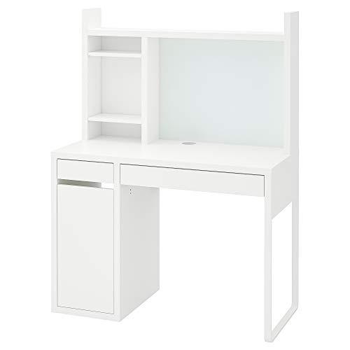 MICKE skrivbord 105x50x140 cm vit