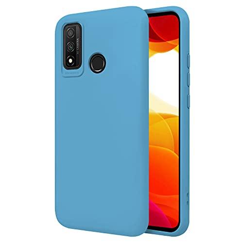 TBOC Funda Compatible con Huawei P Smart (2020) [6.21'] - Carcasa Rígida [Celeste] Silicona Líquida Premium [Tacto Suave] Forro Interior Microfibra [Protege la Cámara] Antideslizante Resistente
