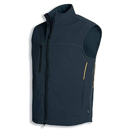 Uvex Perfect werkvest - Softshell vest voor heren - Zwart - Gr 52/54