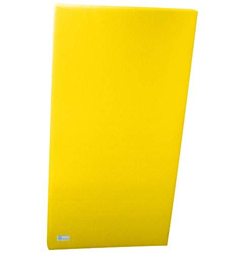 Horch Akustik Wandabsorber, Filz, Stahlseil, Hochformat, Akustikelement, Schalldämmung, Zitronengelb 60cm x 120cm