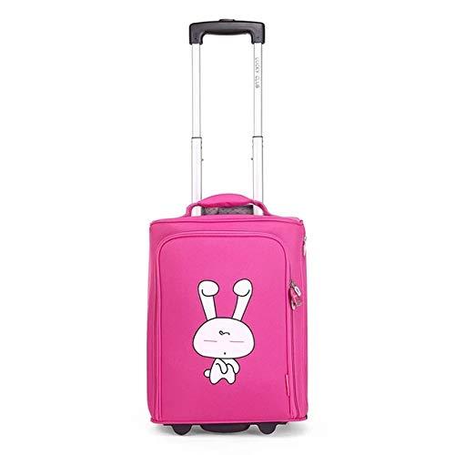 Mdsfe kids cute Oxford Rolling Luggage vs students school Trolley Suitcase on Wheel girl & boy 20 inch Cabin brand Trolley case, 20'