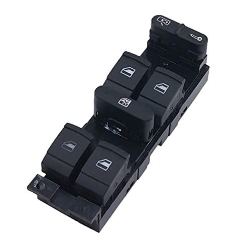 CMEI Interruptor de Ventana de elevación de Potencia eléctrica de Control Master Fit para Bora B5 Seat Leon Toledo 2000-2009 (Color : Black)