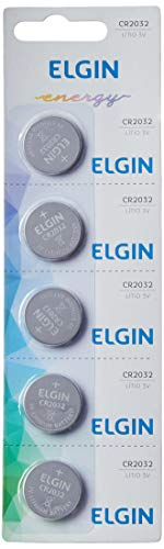 Elgin CR2032, Bateria de Litio 3V, Blister com 5 Baterias