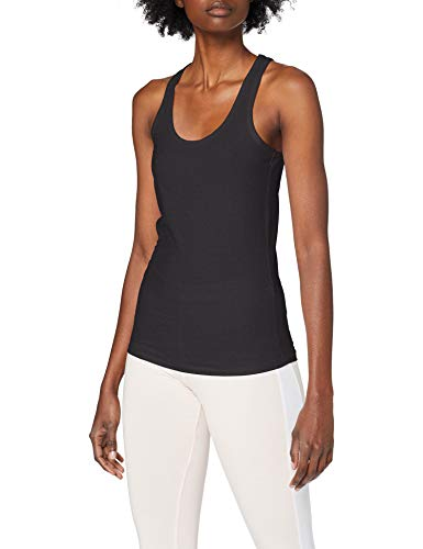 Urban Classics Damen Ladies Jersey Tanktop Sport Tank Top, Schwarz (Black 7), X-Large