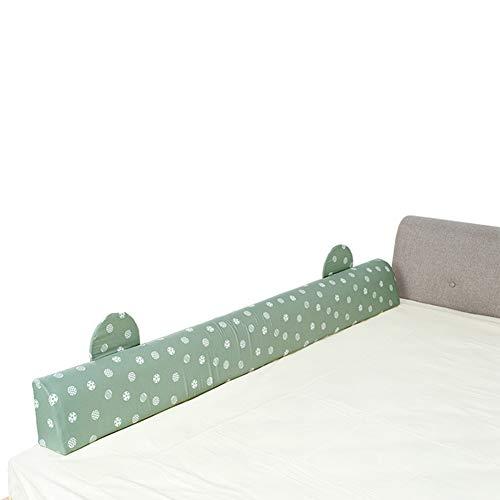 LIQICAI Barrière De Lit Enfant Bébé Pliable Garde-Corps De Lit for La Sécurité De Bébé, Dors Installation Rapide, 5 Couleurs, 4 Tailles (Color : Green, Size : 90cm)