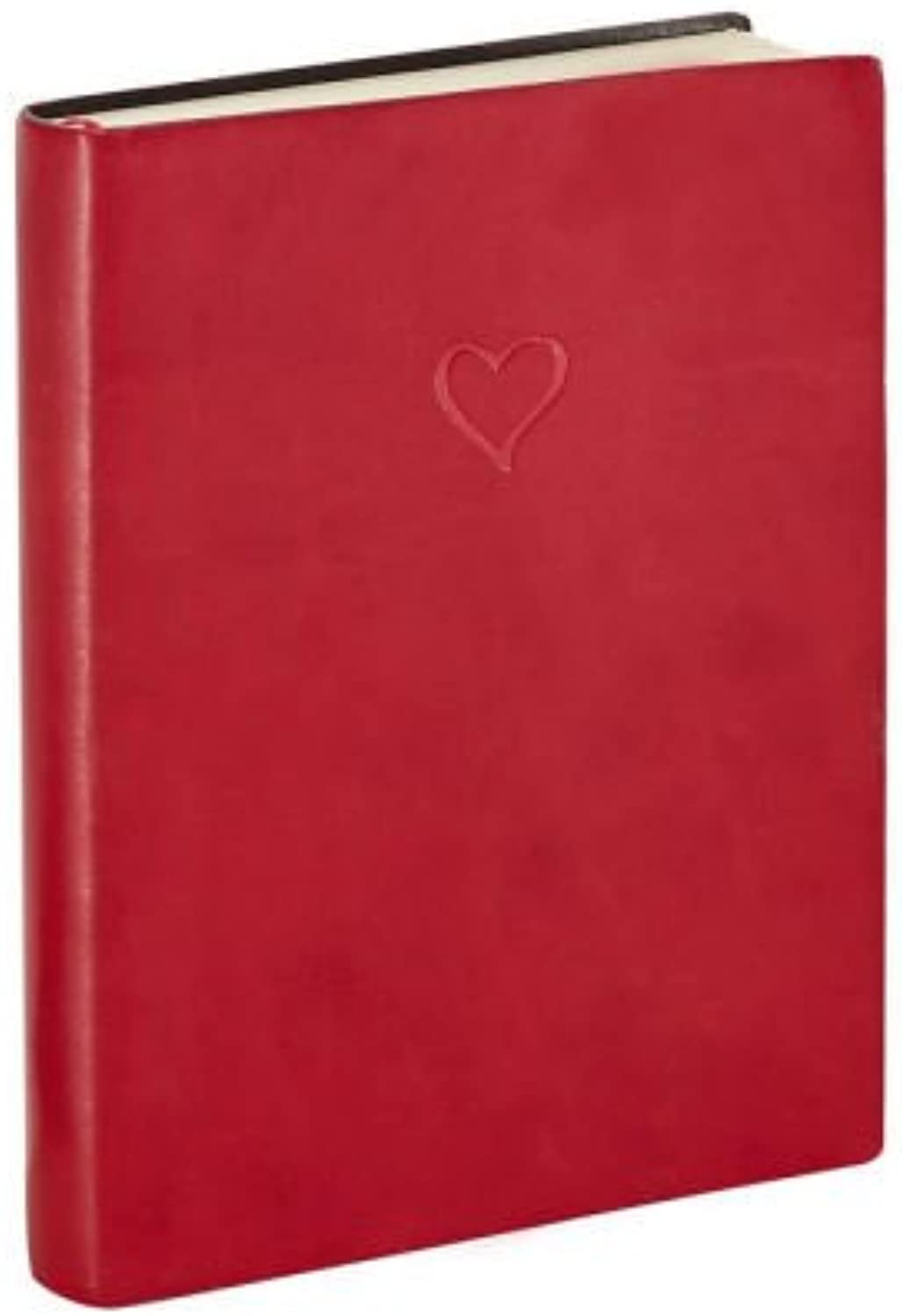 Italian Leather Journal Red Heart Lined Journal