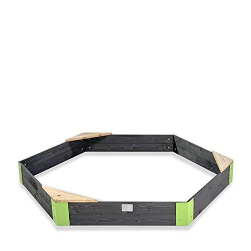 EXIT Aksent Holzsandkasten sechseckig / Material: Zedernholz / 200 x 170 x cm / Gewicht: 13 kg / für Kinder ab 3 Jahren geeignet