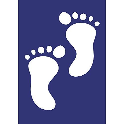 Rayher Schablone Babytapser, DIN A5, Gummi, Blau, 2,6 x 1,62 x 0,02 cm