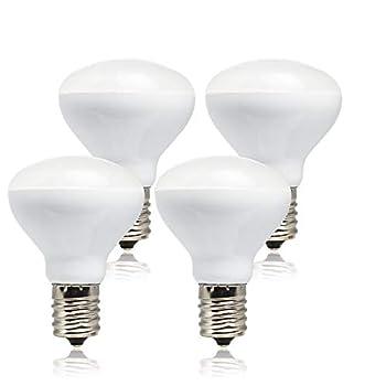 Haian R14 LED Bulb E17 Intermediate Base Mini Reflector Floodlight,4 Watt 280 Lumens,25 Watt Incandescent Equivalent,R14 E17 LED Light Bulb Non-dimmable 3000K Warm White  4 Pack