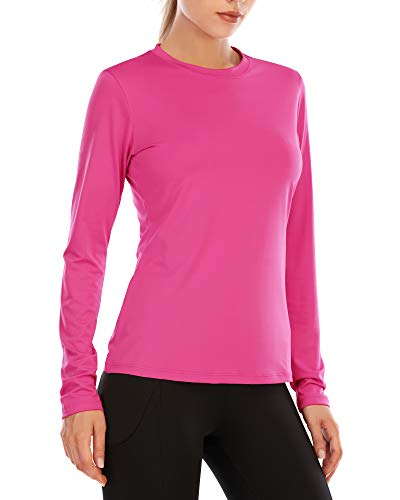 Long Sleeve Shirts for Women Sun UV Protection Quick Dry Swimsuit T Shirt Running Workout Athletic Tops UPF 50+