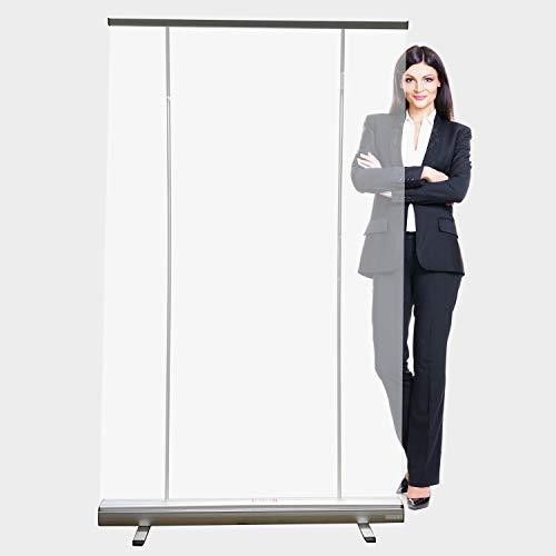 Rollup Care 120 x 200 cm - mobiler, transparenter Hygieneschutz, Spuckschutz (120x200cm)