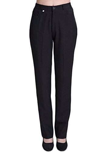 Nanxson Women¡¯s Hotel/Kitchen Chef Pants Trousers Uniform Elastic Waist Black Pants Work Pants CFW2001