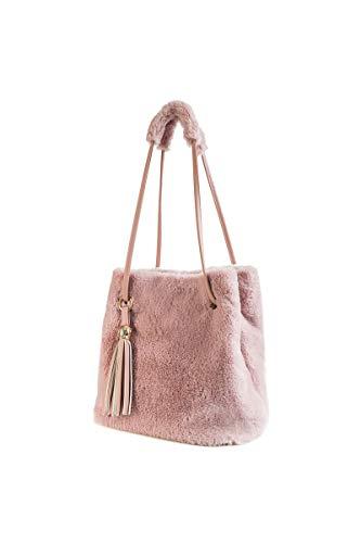 Ulisty Donne Inverno Pelliccia ecologica Borsa a tracolla felpa borsetta Soffice Borsa della benna Nappa Borsa a tracolla rosa