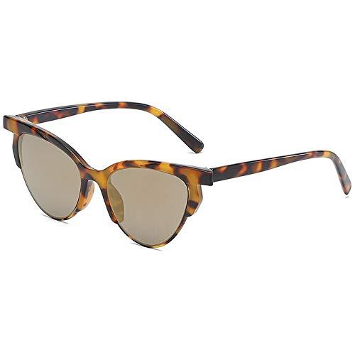 Gafas de Sol Sunglasses Gafas De Sol Clásicas De Ojo De Gato para Mujer Gafas De Sol De Gran Tamaño Retro De Diseñador De Marca para Gafas De Sol Femeninas Leopardgold