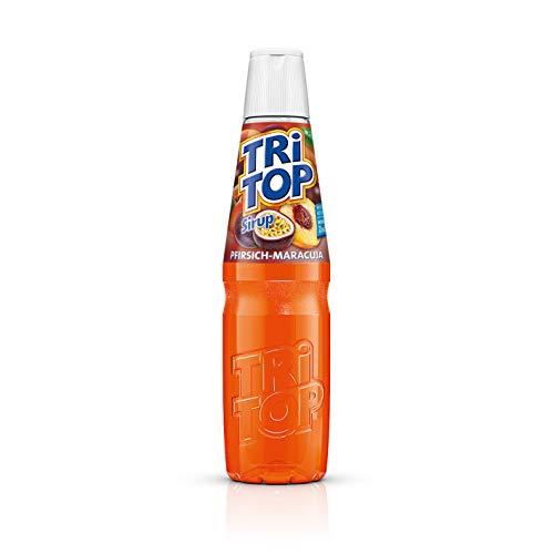TRi TOP Getränkesirup Pfirsich-Maracuja 1 x 600ml | Sirup für Wassersprudler | 1 Flasche ergibt ca. 5 Liter Erfrischungsgetränk