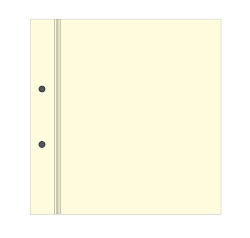Semikolon (353108) Fotokarton für Digital & Classic Albumset | Zusätzlicher Fotokarton in cremeweiß | 20 Blatt hochwertige, gelochte Seiten Format A4