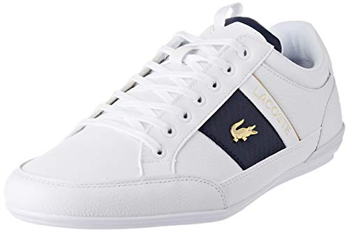 Lacoste Herren Chaymon 0120 1 CMA Sneaker, Weißes Wht Wht, 43 EU