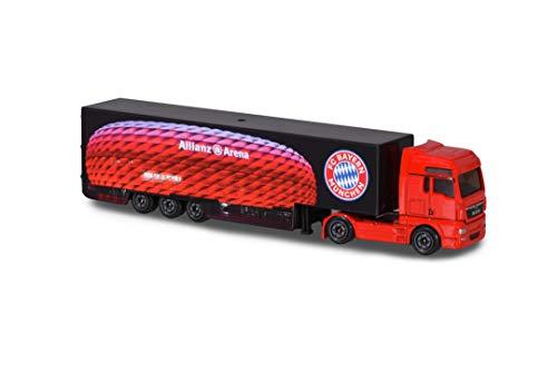 Majorette 212053155 FC Bayern München Man TGX XXL Truck, Spielzeug LKW mit Freilauf & Federung, 13 cm, rot