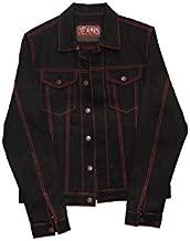 John Connor Jeans, Jean Jacket, Black Japanese Selvedge Denim Red-Lined