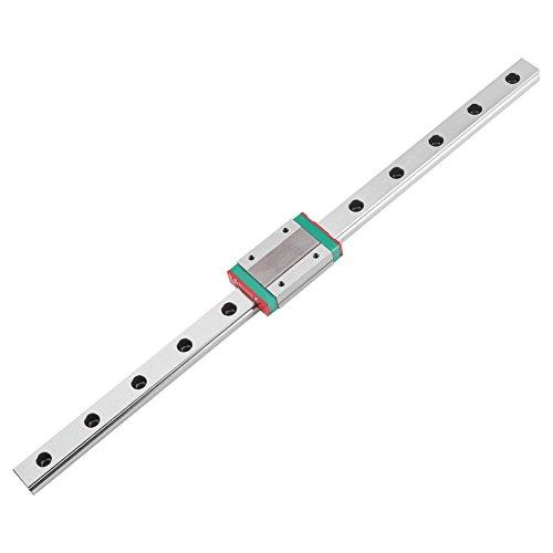 Mini MGN12H Guida di Scorrimento Lineare, Guida Cuscinetto Lineare con Blocco per Stampante 3D CNC Fai Da Te(300mm)