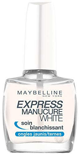 Maybelline New York - Express Manucure White - Soin Blanchissant pour Ongles Jaunes
