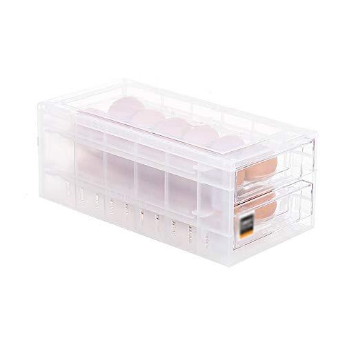 Caja de almacenamiento de alimentos nevera caja de huevos. Bandeja para huevos, caja de plástico transparente para cocina, caja de almacenamiento de huevos, caja para huevos transparente, hecha de mat