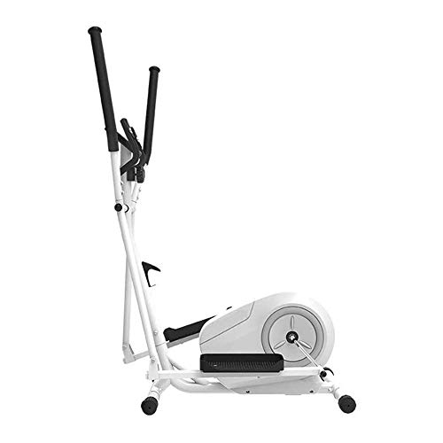 HHJJ Elliptical Machine,Magnetically Controlled Cross Trainers Stepper,Indoor Exercise Bike,8 Speed Magnetic Control,for Home/Gym RunningMachine1121 (Color : WHITE)