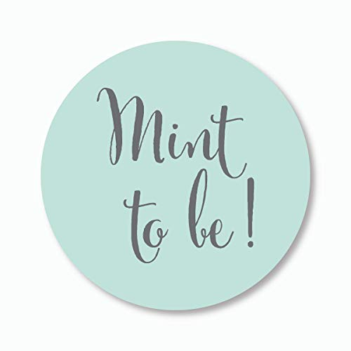 "120ct - 1"" Mint To Be Stickers, Meant to Be, Mint Wedding Favor Stickers (#378)"