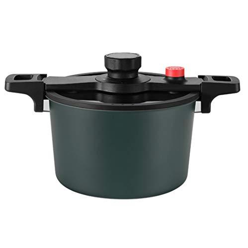 TOHOYOK 6L Mikrodruckkocher, Schnellkochtopf, Antihaft- Kocher, Dampfkochtopf zum Kochen Suppe, geeignet for Gas, Induktionsherd, Keramik und Elektroherd, sichtbare Deckel, grün