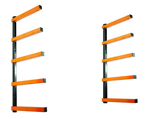 TITAN GREAT OUTDOORS Lumber Storage Rack Board Basement Storage Wall Mounted Indoor Outdoor Rack 600 lb Capacity