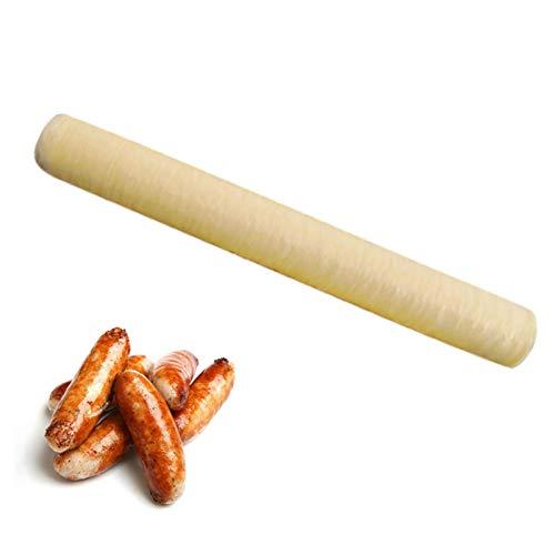 Groust Worsthuls eetbaar kunstdarm,eetbaar drogende worsthoes voor aromatische huisgemaakte worsten hammen voor…