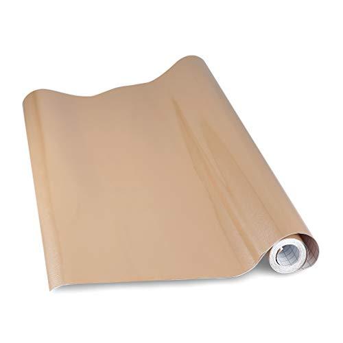 KINLO möbelfolie Braun 60x500cm (3㎡) aus PVC tapeten küche klebefolie aufkleber küchenschränke Wasserfest aufkleber für schrank selbstklebende folie Küchenschrank küchenfolie Dekofolie MIT GLITZER