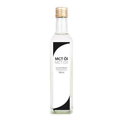 MCT Öl, Premium Qualität, auf Kokosölbasis, 1er Pack (1x 500ml) in Glasflasche