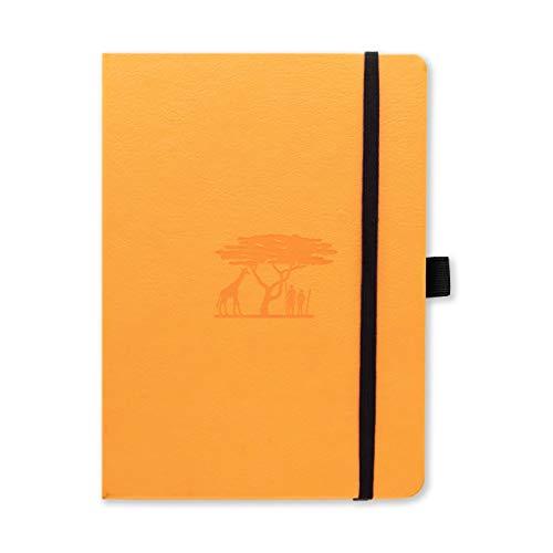 Dingbats D5623T Earth A5 plus Hardcover Journal, Gepunktet Mandarine - Serengeti