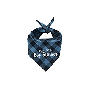 Willowear Dog Bandanas Soon to be Big Brother Blue Large