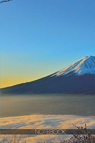Notebook: Mount Fuji above clouds [110 pages]: Mount Fuji above clouds