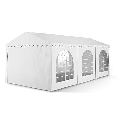 Blumfeldt Sommerfest Carpa de fiestas PVC impermeable ignífuga 3x6m superficie 500 g/m² (Pabellón exterior, ventanas, estructura robusta, paredes extraíbles, cenador...