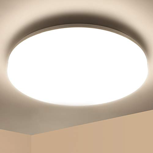 Lámpara de Techo LED 36W Ketom Blanco Neutro 4500K Plafón de Techo Redonda Equivalente a la lámpara de 120W, Ultra Delgado IP44 Moderna Downlight Para Dormitorio Baño Küche Cocina Pasillo Comedor