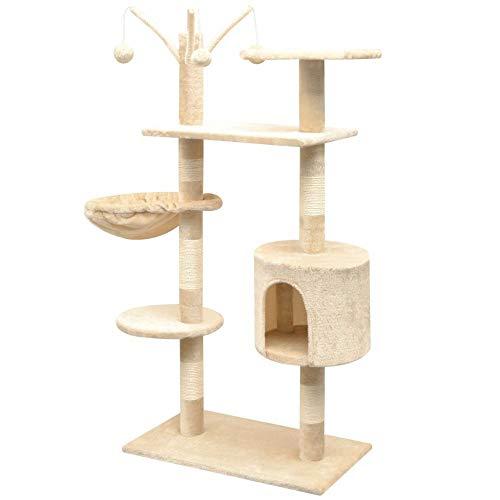 Homgrace Albero per gatto con tiragraffi per gatti per rilassarsi, giocare e riposare