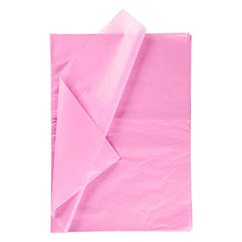 RUSPEPA Geschenkpapier Seidenpapier - Rosa Seidenpapier für Heimarbeit Bastelarbeit Geschenkverpackung – 50 x 70 cm – 25 Blatt