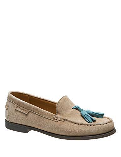 Sebago Women's Plaza Tassel Suede Tan Loafers Beige in Size 37 E (W)