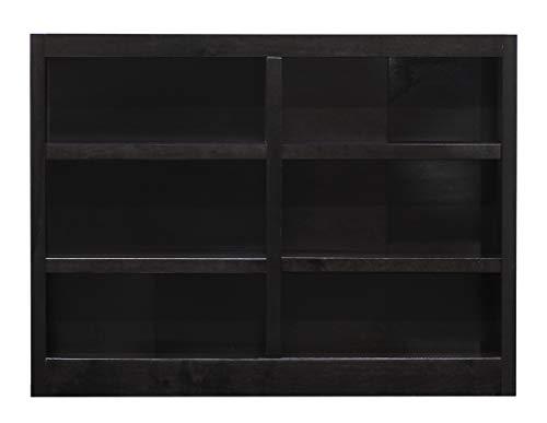 Concepts in Wood MI4836 6 Shelf Double Wide Wood Bookcase, 36 inch Tal (Espresso)