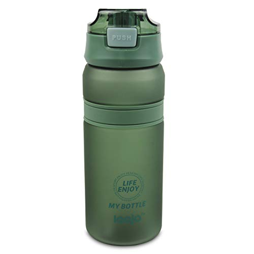 CX&LL Botella de Agua Deportiva 700ml, Adultos/Niños Bottle, Bidon de Bebidas Plástico Tritan, para Gimnasio, Ciclismo, Trekking | Sin-BPA & Impermeable & Reutilizable, Verde